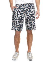 Tailor Vintage Reversible Plaidsolid Twill Shorts - Lyst