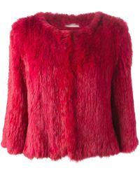 Yves Salomon - Cropped Fur Jacket - Lyst
