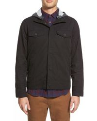 Kane & Unke - Twill Jacket With Removable Hood - Lyst