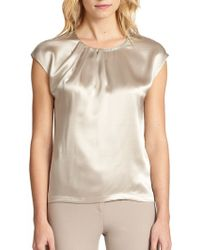 Joie Silk Embellished Top - Lyst