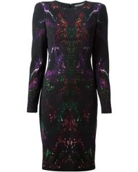Alexander McQueen Moth Print Dress - Lyst