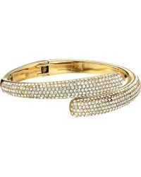 Michael Kors Collection Pave Bypass Hinge Bangle - Lyst