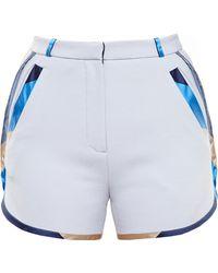 Ostwald Helgason Shorts With Silk Mikado Trim - Lyst