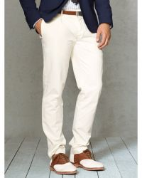 Polo Ralph Lauren Straight-fit Pleated Chino - Lyst