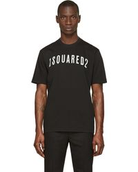 DSquared2 Black Compact Fade Logo T_shirt - Lyst