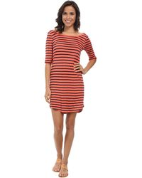 Splendid Navy Venice Stripe Dress - Lyst