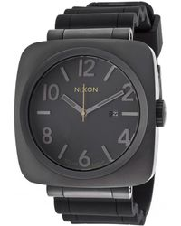 Nixon Mens Volta Pu Solar Black Rubber and Dial Gunmetal Ip Steel Case - Lyst