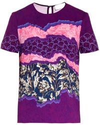 Peter Pilotto Marina Stretchjersey Crepe Top - Lyst