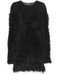 Alexander McQueen Mohair and Woolblend Dress - Lyst