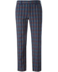 Paul by Paul Smith - Woven Checked Cropped Trousers - Lyst
