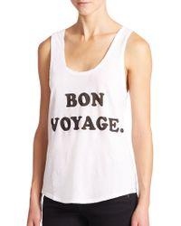 Wildfox Bon Voyage Tank Top white - Lyst