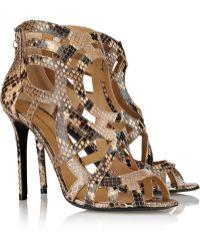 Nicholas Kirkwood Lasercut Python Sandals - Lyst