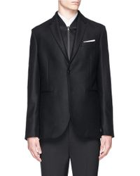 Neil Barrett Bomber Vest Virgin Wool-Blend Blazer black - Lyst