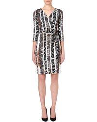 Diane Von Furstenberg New Julian Two Dress Oasis Snake Netural - Lyst