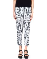 American Vintage Abstract Print Trousers Whiterock - Lyst