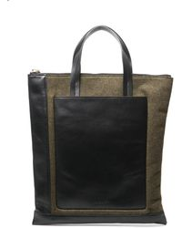 Marni - Leather And Felt Tote - Lyst