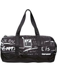 KENZO Printed Nylon Duffle Bag - Black
