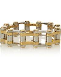 Balenciaga Bike Gold And Silver-Tone Bracelet - Lyst
