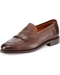 Ralph Lauren Collection Leather Kiltie Penny Loafer - Lyst