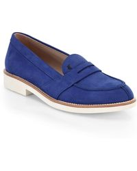Tod's Sueded Leather Penny Loafers - Lyst