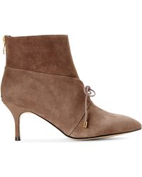 Carmen Marc Valvo - Grey Agnese Suede Booties - Lyst