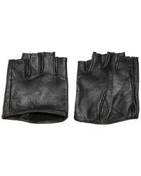 Karl Lagerfeld - Plain Soft Leather Gloves - Lyst