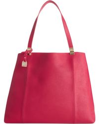 Tommy Hilfiger Th Hinge Saffiano Leather Tote - Lyst