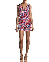 Alice & Trixie - Abigail Floral Printed Silk Jumpsuit - Lyst
