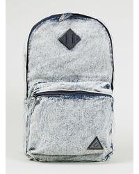 Topman Acid Wash Denim Backpack - Lyst