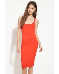 Forever 21 | Scoop Neck Bodycon Dress | Lyst