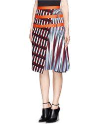 Peter Pilotto Asymmetric Tweed Flap Aline Print Skirt - Lyst