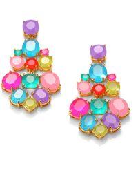 Kate Spade - Multicolour Chandelier Earrings - Lyst