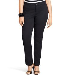 Ralph Lauren Stretch-Cotton Skinny Pant - Lyst