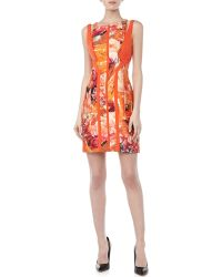 J. Mendel Shouldercutout Floralprint Dress - Lyst