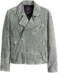 H&M | Suede Biker Jacket | Lyst