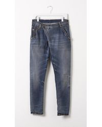 R13 Harem X-Over Jean blue - Lyst