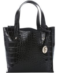 Furla Onyx Croc Embossed Leather Small 'Musa' Tote - Lyst