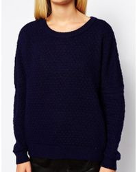 Y.A.S Aimee Textured Circle Knit Sweater - Lyst