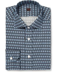 Mp Di Massimo Piombo Lightweight Printedcotton Shirt - Lyst
