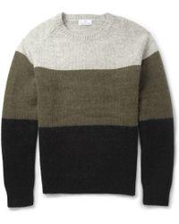 Hentsch Man - Panelled Merino Wool And Mohair-Blend Sweater - Lyst