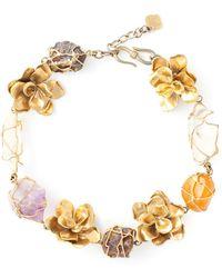 Yves Saint Laurent Vintage Floral Necklace - Lyst