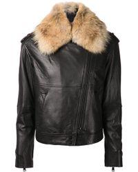 Vince Black Biker Jacket - Lyst