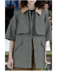 John Galliano | Ribbed Pocket Silk Trench | Lyst