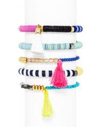 BaubleBar Cape Town Bracelet Set-Neon - Multicolour