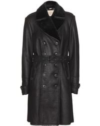 Burberry Brit Feersdale Leather Trench Coat - Lyst