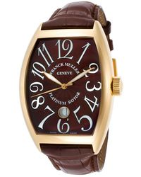 Franck Muller | Men's Classic Automatic Brown Genuine Alligator And Dial | Lyst
