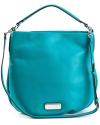 Marc By Marc Jacobs New Q Hillier Leather Hobo Bag - Lyst
