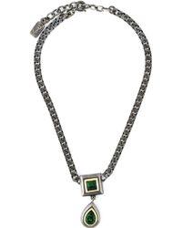 Yves Saint Laurent Vintage Pendant Necklace silver - Lyst
