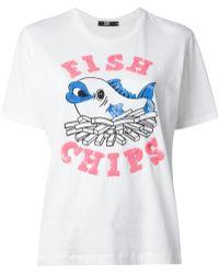 Markus Lupfer Sequin Embellished Tshirt - Lyst