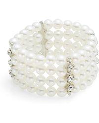 Ak Anne Klein Faux Pearl Multi-Row Bracelet - Lyst
